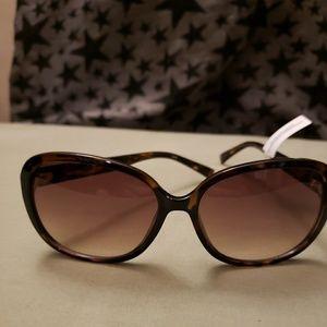 Calvin Klein Polarized Havana Cat Eye Sunglasses